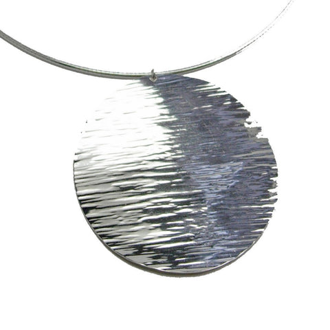 sun disc with lines necklace