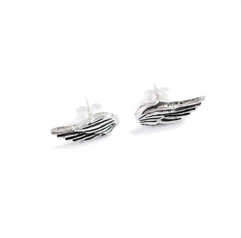 mini wing hook earrings
