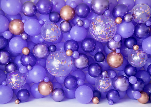 Amethyst Balloon Wall