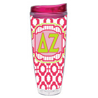 Delta Zeta dz greek sorority gift accessories tumbler cup thermos merchandise