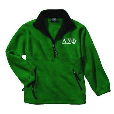 greek delta sigma phi fleece jacket pullover sorority fraternity custom clothing