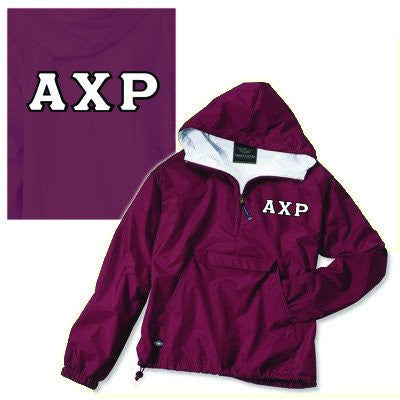 greek fraternity sorority twill pullover jacket custom pattern somethinggreek