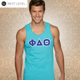 Next Level Fraternity Tank with Twill Letters