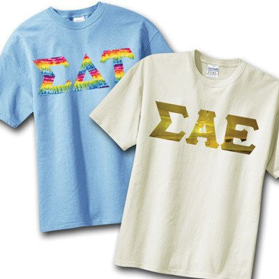 greek 2 printed 2 shirt pack fraternity sorority clothing shirts
