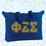Sorority Varsity Letter Printed Shoulder Bag