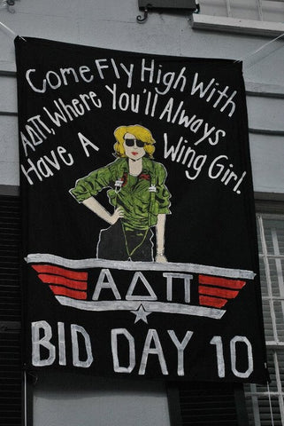 College of Charleston bid day - Top Gun theme