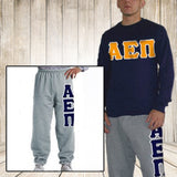 Fraternity clothing package Long Sleeve sweatshirt and sweatpants deal