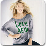 Alpha Epsilon Phi Sorority shirts Custom Greek printed shirts