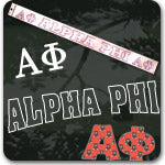 Alpha Phi Sorority gifts and custom Greek accessories