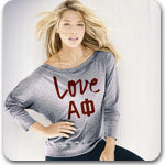 Alpha Phi Sorority custom printed Custom Greek merchandise