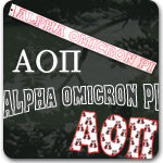 Alpha Omicron Pi Sorority gifts and custom Greek accessories