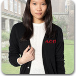 Alpha Omicron Pi Sorority clothing Custom Greek merchandise embroidery
