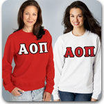 Alpha Omicron Pi Sorority clothing specials and custom Greek gear