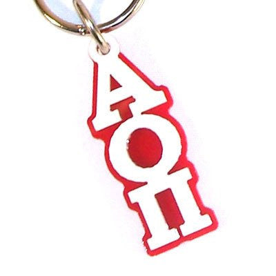 Something Greek Sorority letter Key Chain Alpha Omicron Pi