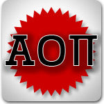 Alpha Omicron Pi Sorority clothing sales and Greek Gear discounts