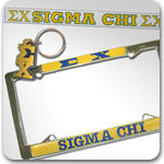 Sigma Chi Fraternity gifts and accessories Custom Greek merchandise Greek gifts