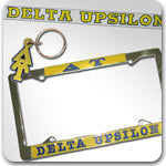 Delta Upsilon Fraternity accessories and Greek gifts