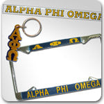Alpha Phi Omega Fraternity accessories and Custom Greek gifts