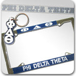 phi delta theta fraternity greek accessories license plate stickers keychain