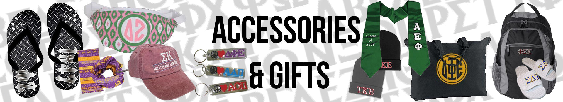 Greek Sorority and Fraternity Accessories and Gifts