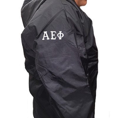 embroidery sleeve placement customization greek fraternity sorority shirts jackets somethinggreek