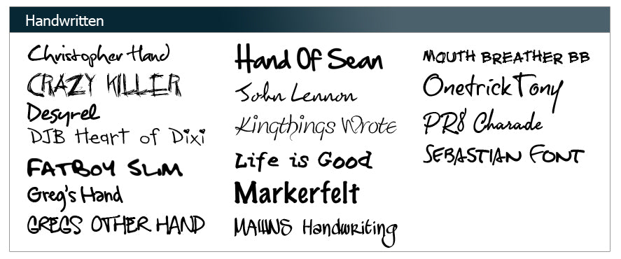 FontBook - Screen Printing and Embroidery Fonts