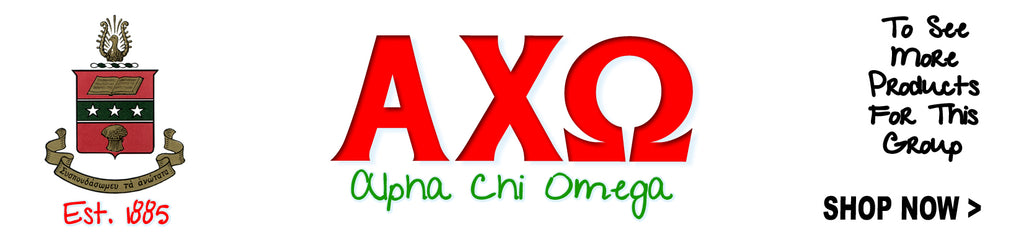 Alpha Chi Omega Women's Fraternity clothing Custom Greek merchandise Sorority clothing