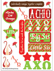 Alpha Chi Omega Sorority Greek stickers and gear