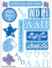 Alpha Delta Pi Sorority Greek stickers and gear