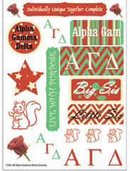 Alpha Gamma Delta Sorority Greek stickers and gear