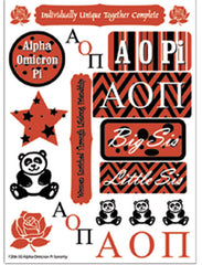 Alpha Omicron Pi Sorority Greek stickers and gear
