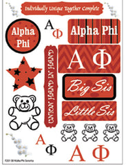 Alpha Phi Sorority Greek stickers and gear