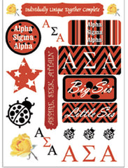 Alpha Sigma Alpha Sorority Greek stickers and gear