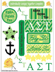 Alpha Sigma Tau Sorority Greek stickers and gear