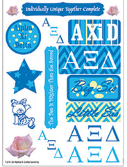 Alpha Xi Delta Sorority Greek stickers and gear
