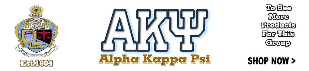 Alpha Kappa Psi Fraternity merchandise Custom Greek shirts