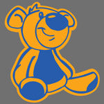 Teddy Bear print design for Custom Greek sorority clothing