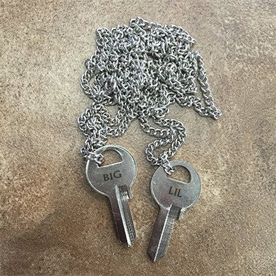Big Sis Lil Sis Karma Key Necklace