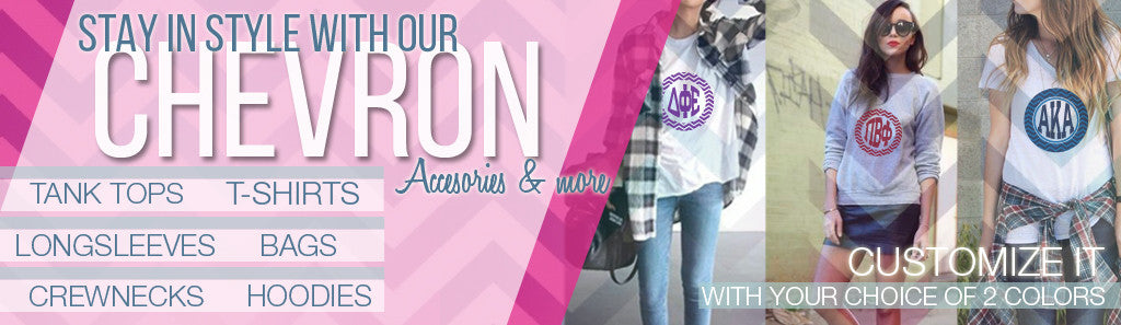 Sorority Chevron Apparel