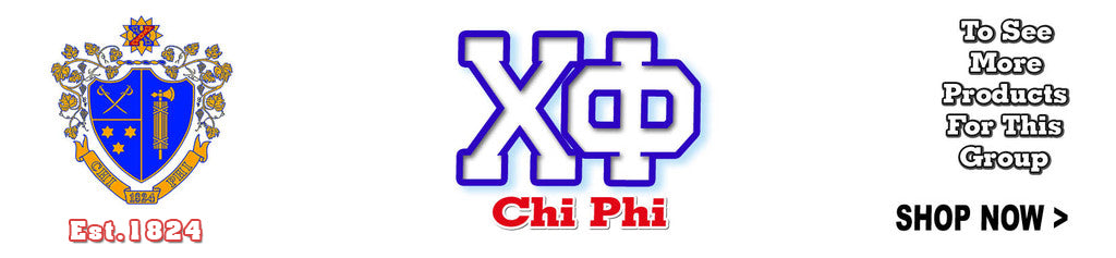 Chi Phi Fraternity Custom Greek merchandise