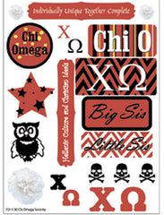 Chi Omega Sorority Greek stickers and gear
