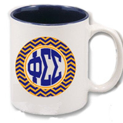 greek sorority fraternity custom chevron coffee mug custom greek merchandise