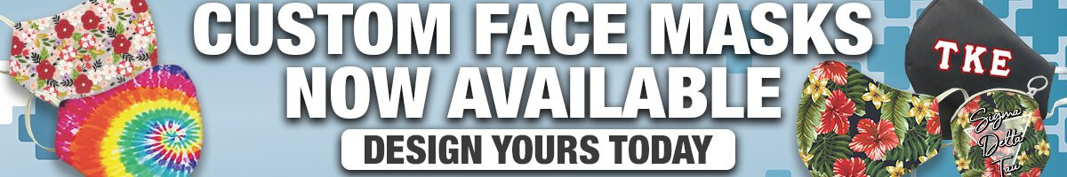 Custom Face Masks Now Available; Design Yours Today