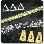 Delta Delta Delta Sorority gifts and Custom Greek accessories