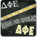Delta Phi Epsilon Sorority gifts and Custom Greek accessories