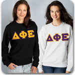 Delta Phi Epsilon Sorority clothing specials on Custom Greek merchandise