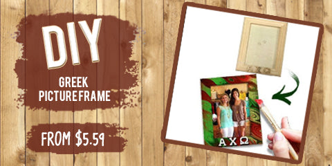 Custom Greek do it yourself DIY Wooden picture frame