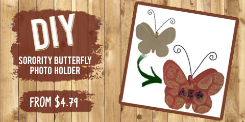 Custom Greek Wooden Butterfly Shaped Photo Holder