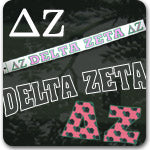 delta zeta sorority greek accessories key chains tumbler picture frames wood paddle