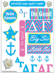 Delta Gamma Sorority Greek stickers and gear
